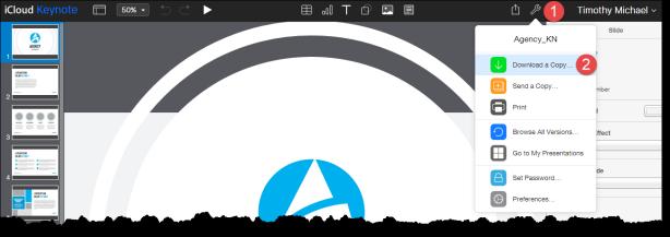 Keynote tools icon