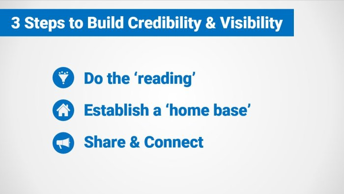 3 Steps to Build Visibility & Credibility