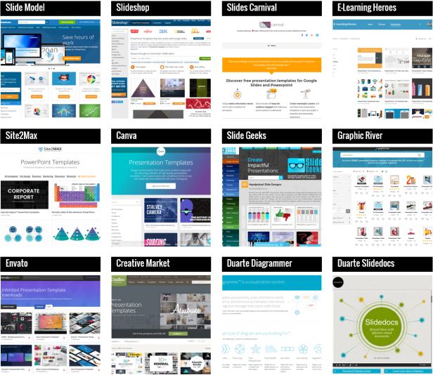 where to find the best presentation templates design inspiration