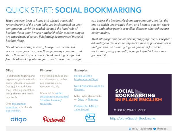 Quick Start-Social Bookmarking