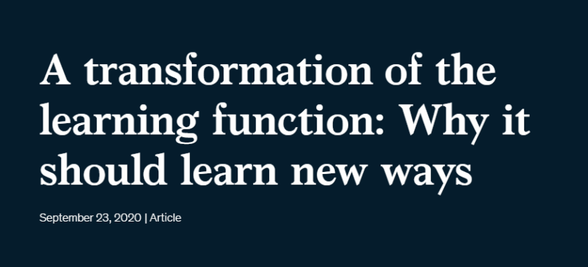 Tranformation of the learning function